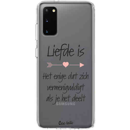 Casetastic Softcover Samsung Galaxy S20 - Liefde is