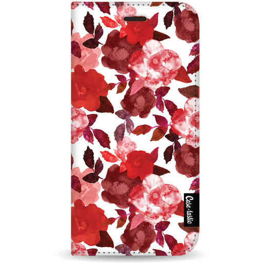 Casetastic Wallet Case White Samsung Galaxy S20 - Royal Flowers Red