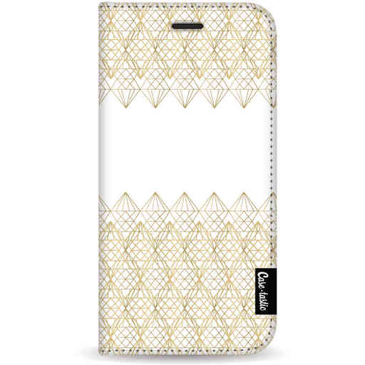 Casetastic Wallet Case White Samsung Galaxy S20 - Golden Diamonds