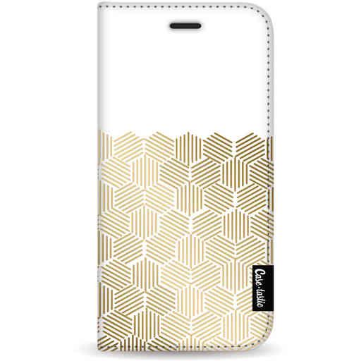 Casetastic Wallet Case White Samsung Galaxy S20 - Golden Hexagons