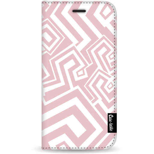 Casetastic Wallet Case White Samsung Galaxy S20 - Abstract Pink Wave