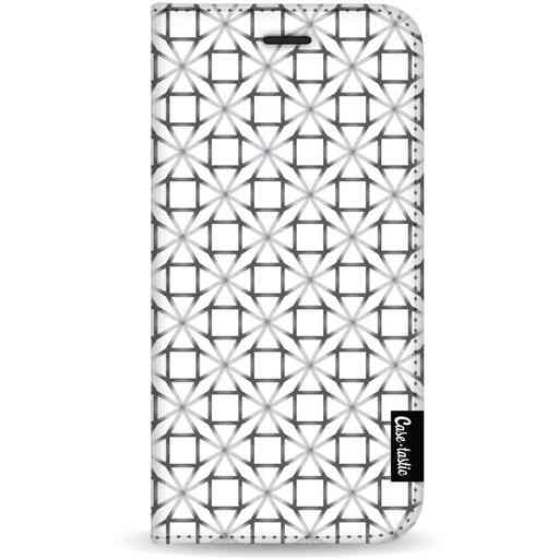 Casetastic Wallet Case White Samsung Galaxy S20 - Geometric Lines Silver
