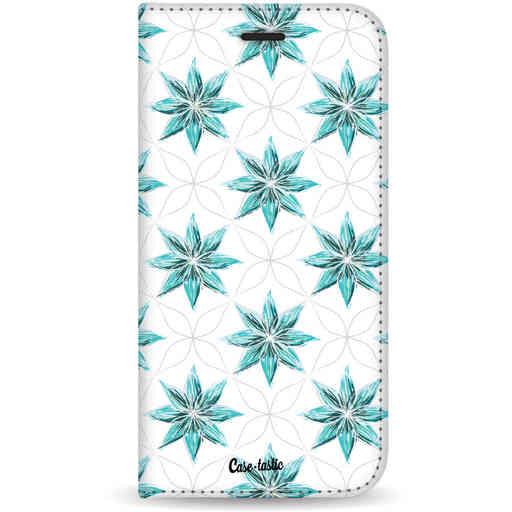Casetastic Wallet Case White Samsung Galaxy S20 - Statement Flowers Blue