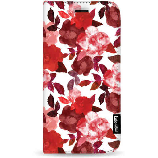 Casetastic Wallet Case White Samsung Galaxy S20 Plus - Royal Flowers Red
