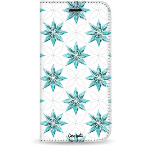 Casetastic Wallet Case White Samsung Galaxy S20 Plus - Statement Flowers Blue