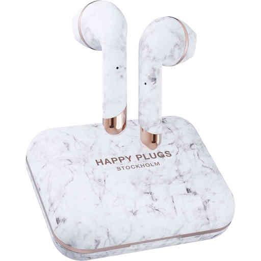 Happy Plugs Air 1 Plus - Earbud White Marble