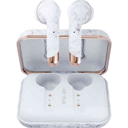 Happy Plugs Air 1 Plus - Earbud White Marble