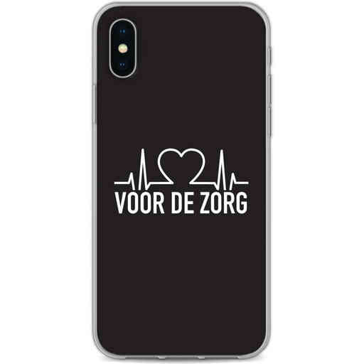 Casetastic Softcover Apple iPhone X / XS - Hart voor de zorg