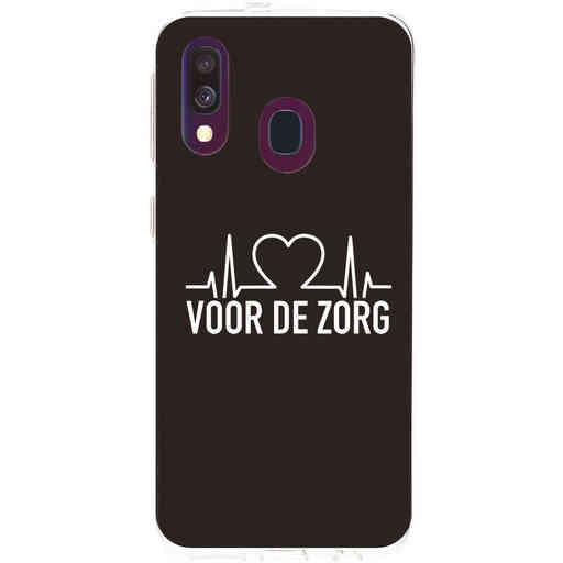 Casetastic Softcover Samsung Galaxy A40 (2019) - Hart voor de zorg