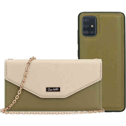Casetastic Clutch Samsung Galaxy A51 (2020) Gold/Green