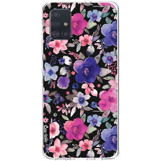 Casetastic Softcover Samsung Galaxy A51 (2020) - Flowers Blue Purple