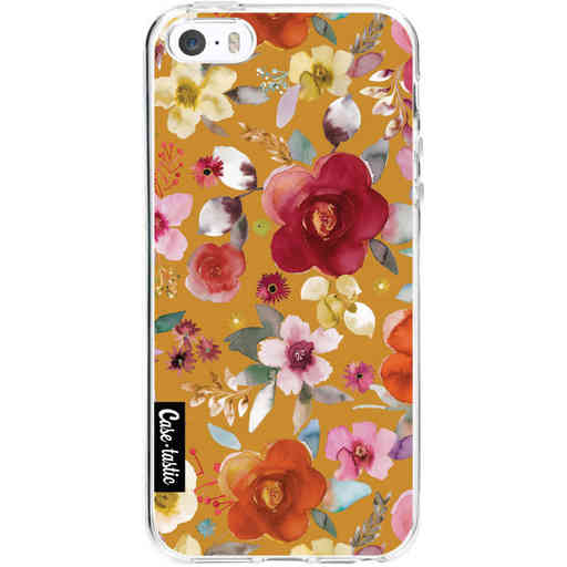 Casetastic Softcover Apple iPhone 5 / 5s / SE - Flowers Mustard