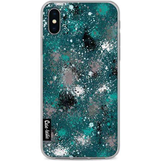 Casetastic Softcover Apple iPhone X / XS - Paint Splatter Dark Green