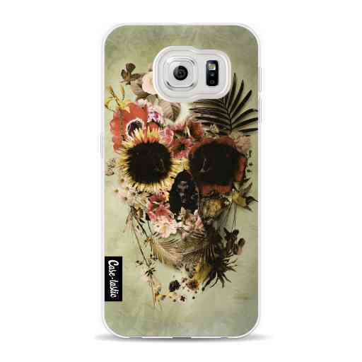 Casetastic Softcover Samsung Galaxy S6 - Garden Skull Light