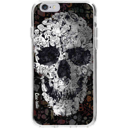 Casetastic Softcover Apple iPhone 6 / 6s - Doodle Skull BW