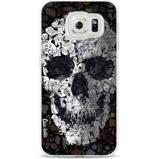 Casetastic Softcover Samsung Galaxy S6 - Doodle Skull BW