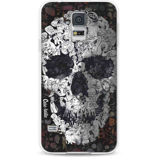 Casetastic Softcover Samsung Galaxy S5 - Doodle Skull BW