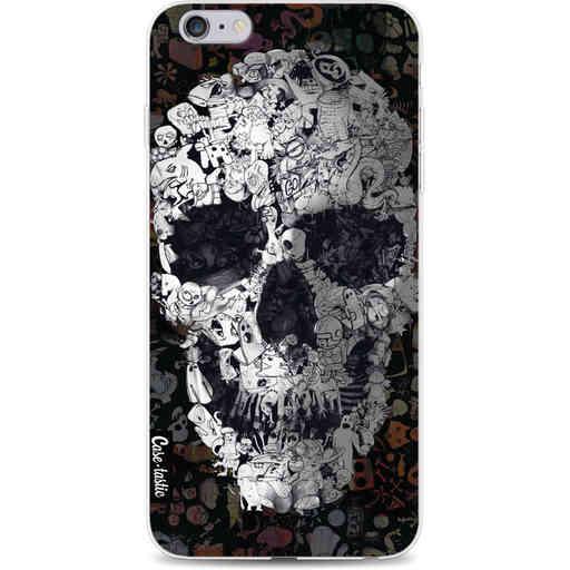 Casetastic Softcover Apple iPhone 6 Plus / 6s Plus - Doodle Skull BW