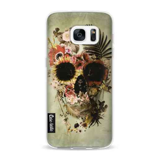 Casetastic Softcover Samsung Galaxy S7 - Garden Skull Light