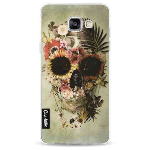 Casetastic Softcover Samsung Galaxy A5 (2016) - Garden Skull Light