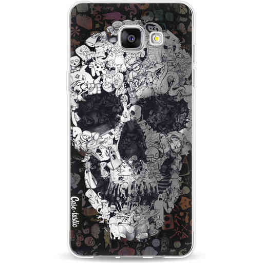 Casetastic Softcover Samsung Galaxy A5 (2016) - Doodle Skull BW