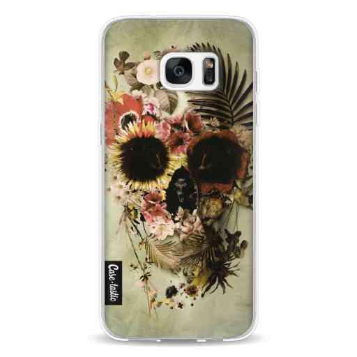 Casetastic Softcover Samsung Galaxy S7 Edge - Garden Skull Light