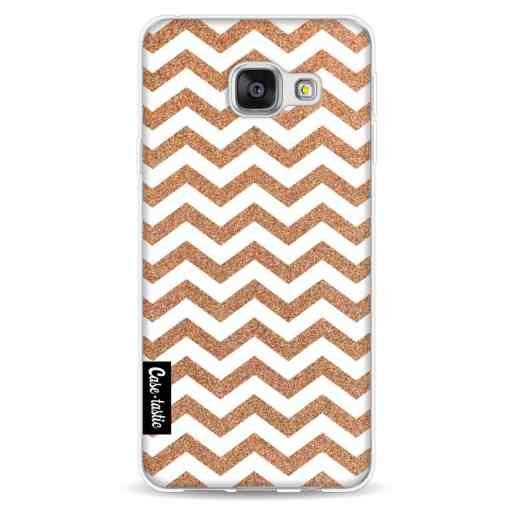 Casetastic Softcover Samsung Galaxy A3 (2016) - Copper Chevron
