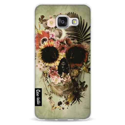 Casetastic Softcover Samsung Galaxy A3 (2016) - Garden Skull Light