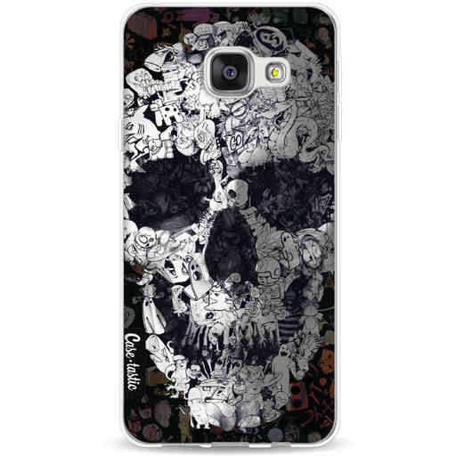 Casetastic Softcover Samsung Galaxy A3 (2016) - Doodle Skull BW