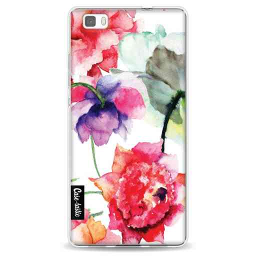 Casetastic Softcover Huawei P8 Lite (2015) - Watercolor Flowers
