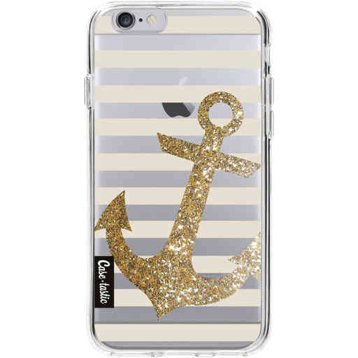 Casetastic Softcover Apple iPhone 6 / 6s  - Glitter Anchor Gold