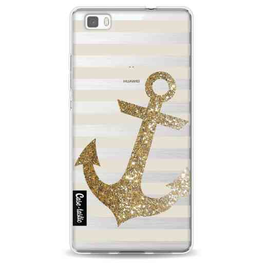 Casetastic Softcover Huawei P8 Lite - Glitter Anchor Gold