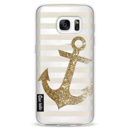 Casetastic Softcover Samsung Galaxy S7 - Glitter Anchor Gold