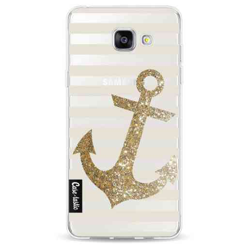 Casetastic Softcover Samsung Galaxy A5 (2016) - Glitter Anchor Gold