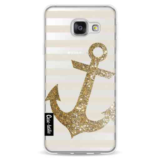 Casetastic Softcover Samsung Galaxy A3 (2016) - Glitter Anchor Gold