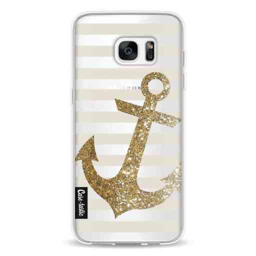 Casetastic Softcover Samsung Galaxy S7 Edge - Glitter Anchor Gold