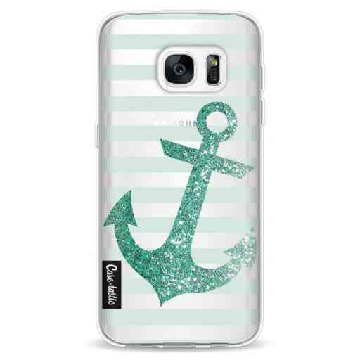 Casetastic Softcover Samsung Galaxy S7 - Glitter Anchor Mint