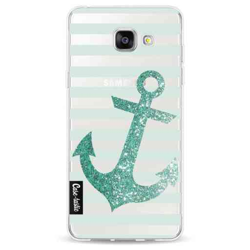 Casetastic Softcover Samsung Galaxy A5 (2016) - Glitter Anchor Mint