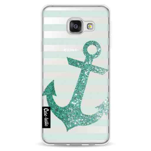 Casetastic Softcover Samsung Galaxy A3 (2016) - Glitter Anchor Mint