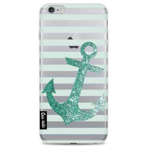 Casetastic Softcover Apple iPhone 6 Plus / 6s Plus - Glitter Anchor Mint