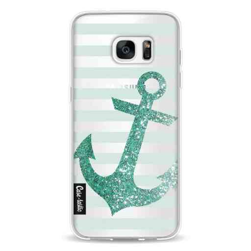 Casetastic Softcover Samsung Galaxy S7 Edge - Glitter Anchor Mint