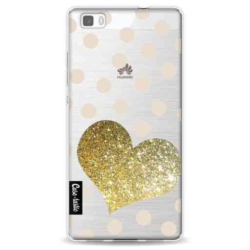 Casetastic Softcover Huawei P8 Lite - Glitter Heart