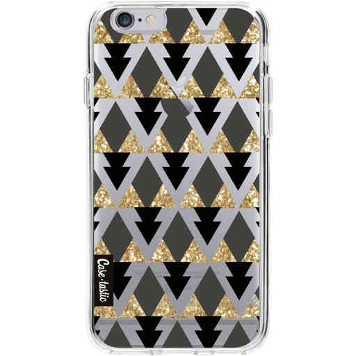 Casetastic Softcover Apple iPhone 6 / 6s  - Gold Black Triangles