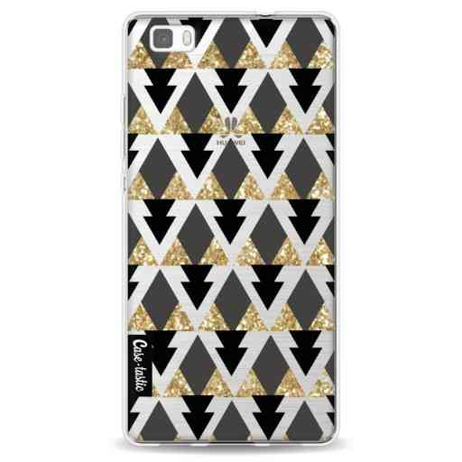 Casetastic Softcover Huawei P8 Lite - Gold Black Triangles