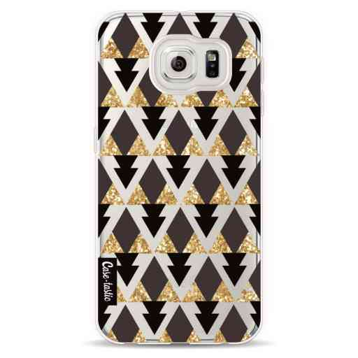 Casetastic Softcover Samsung Galaxy S6  - Gold Black Triangles