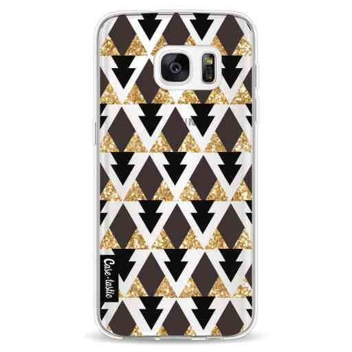 Casetastic Softcover Samsung Galaxy S7 - Gold Black Triangles
