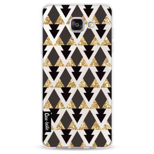 Casetastic Softcover Samsung Galaxy A5 (2016) - Gold Black Triangles