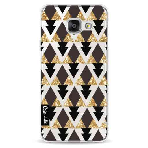 Casetastic Softcover Samsung Galaxy A3 (2016) - Gold Black Triangles