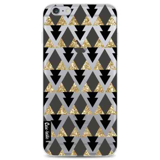 Casetastic Softcover Apple iPhone 6 Plus / 6s Plus - Gold Black Triangles