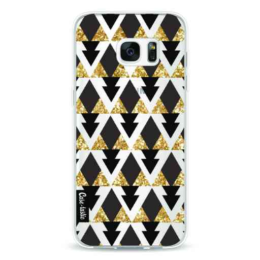Casetastic Softcover Samsung Galaxy S7 Edge - Gold Black Triangles